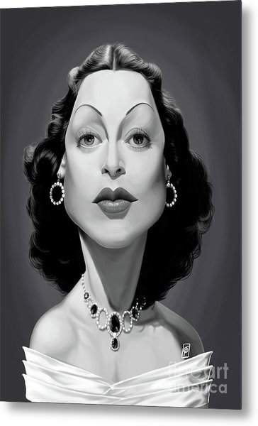 Metal Print featuring the digital art Celebrity Sunday - Hedy Lamarr by Rob Snow