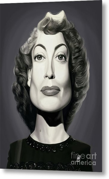 Metal Print featuring the digital art Celebrity Sunday - Joan Crawford by Rob Snow