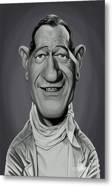 Metal Print featuring the digital art Celebrity Sunday - John Wayne by Rob Snow