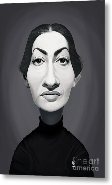 Metal Print featuring the digital art Celebrity Sunday - Maria Callas by Rob Snow