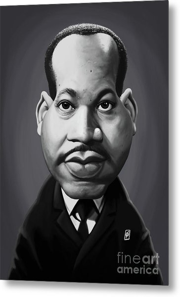 Metal Print featuring the digital art Celebrity Sunday - Martin Luther King by Rob Snow