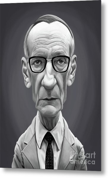 Metal Print featuring the digital art Celebrity Sunday - William Burroughs by Rob Snow
