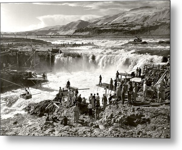 Celilo Falls Metal Print by Unknown