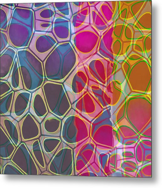 Cell Abstract 11 Metal Print