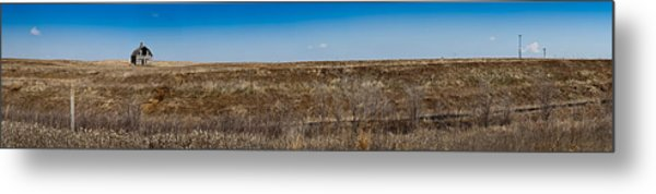 Cell Towers Invade The Prairie Metal Print