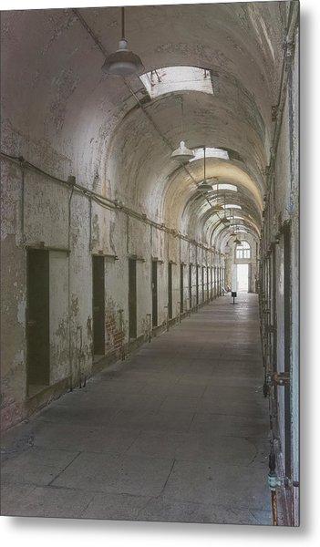 Cellblock Hallway Metal Print