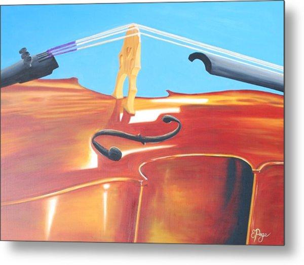 Cello Metal Print