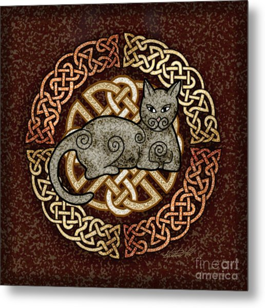 Celtic Cat Metal Print