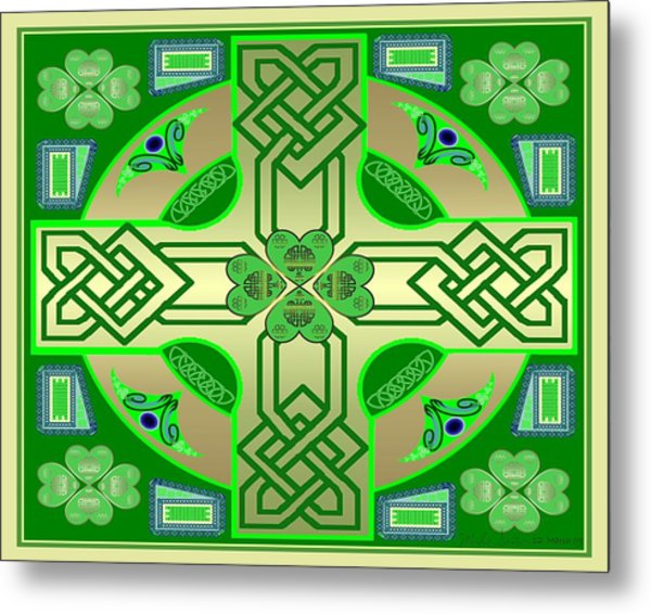 Celtic Clover Knot Metal Print by Mike Sexton