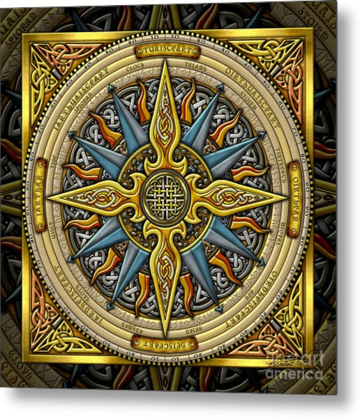 Celtic Compass Metal Print
