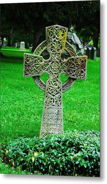 Celtic Cross  Metal Print by Brigid Nelson