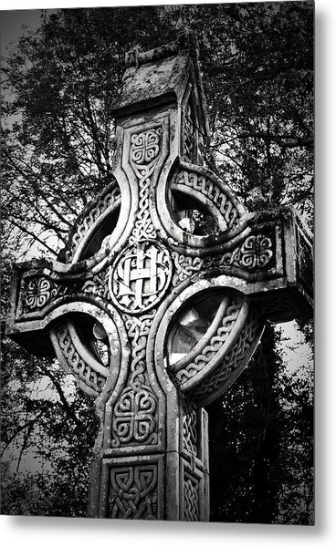 Celtic Cross Detail Killarney Ireland Metal Print