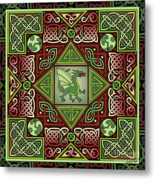 Celtic Dragon Labyrinth Metal Print