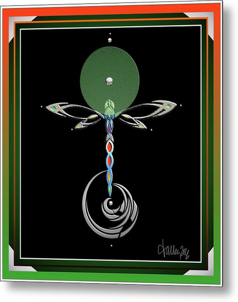 Celtic Dragonfly Metal Print