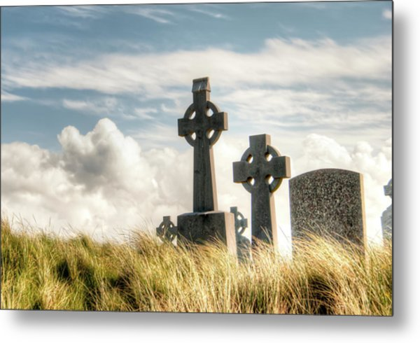 Celtic Grave Markers Metal Print