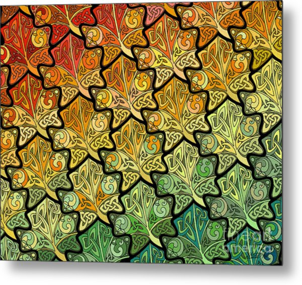 Celtic Leaf Transformation Metal Print