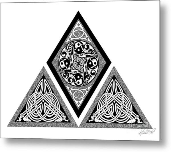 Celtic Pyramid Metal Print