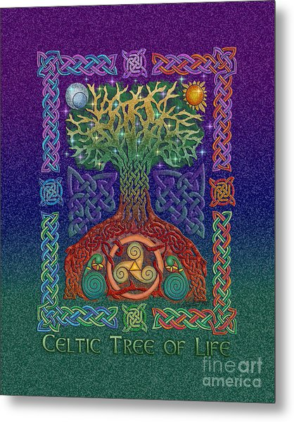 Celtic Tree Of Life Metal Print