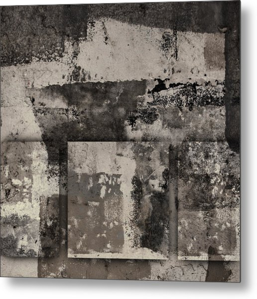 Cement Squares Number Two Metal Print