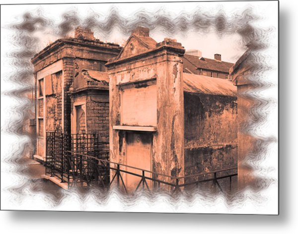 Cemetary Row Metal Print by Linda Kish