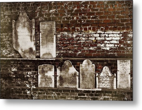 Cemetary Wall Metal Print by JAMART Photography