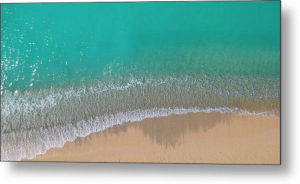Metal Print featuring the photograph Cemetery Beach Aerial Panoramic by Adam Romanowicz