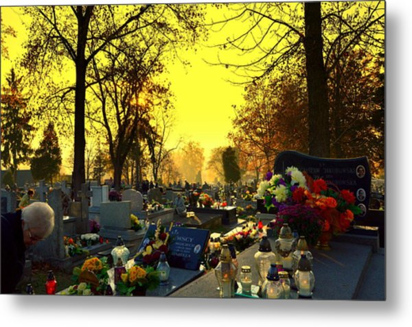 Cemetery In Feast Of The Dead Metal Print