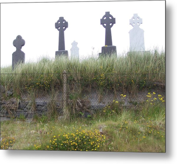 Cemetery On Inisheer Aran Islands Ireland Metal Print by Linda Hardin
