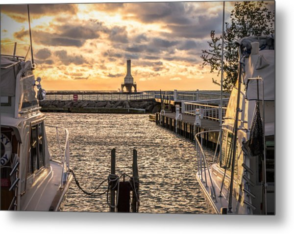 Centered In The Marina Metal Print
