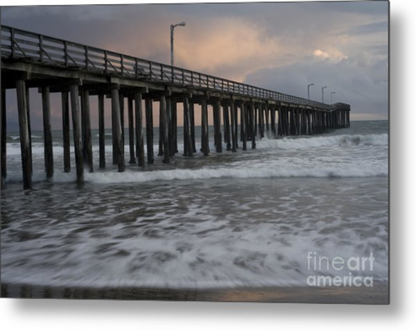 Central Coast Pier Metal Print by Ronald Hoggard