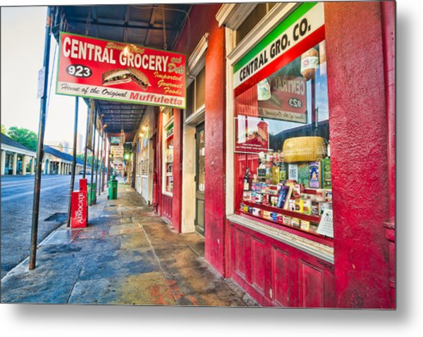 Central Grocery And Deli In The French Quarter Metal Print