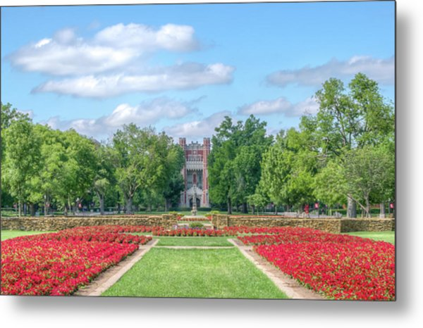 Central Grounds And Gardens At University Of Oklahoma Metal Print