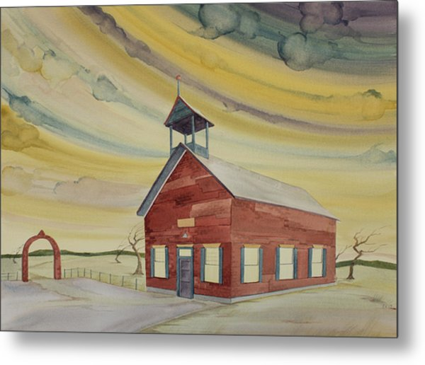 Central Ohio Schoolhouse Metal Print