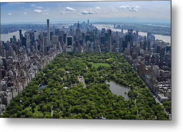 Metal Print featuring the photograph Central Park Aerial by Rand