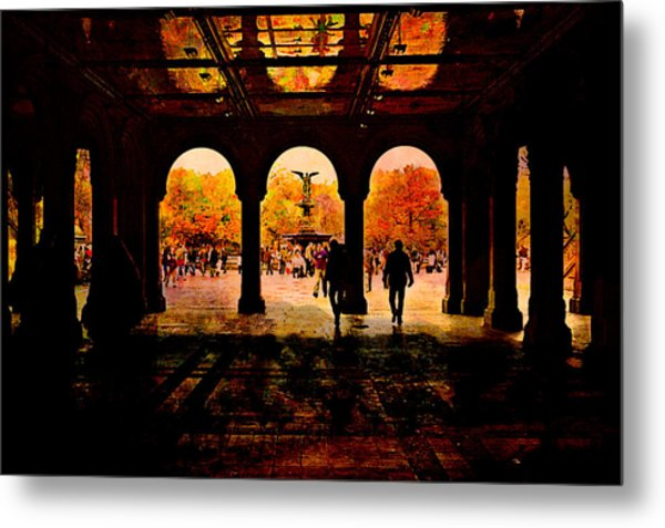 Central Park Nyc  Under The Bridge Metal Print