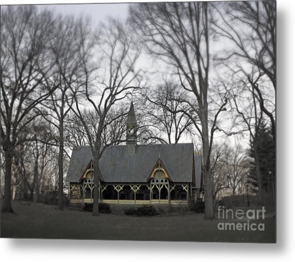 Centrally Located Metal Print