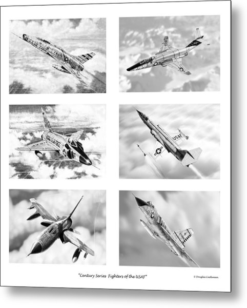 Century Series Drawings Metal Print
