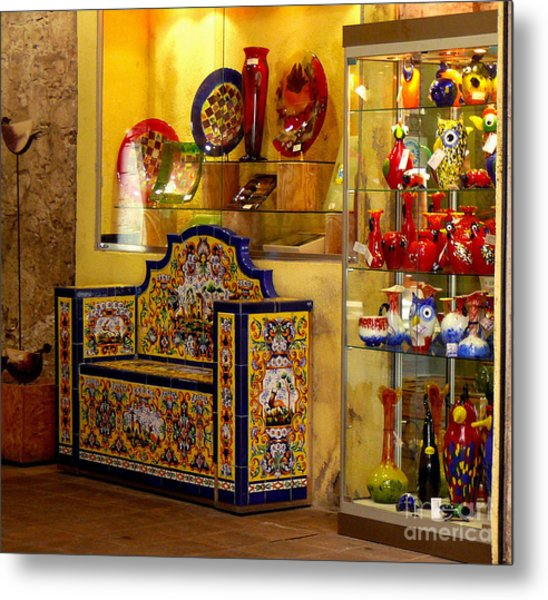 Ceramic Crafts In A Shop Metal Print