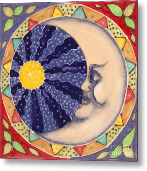 Ceramic Moon Metal Print