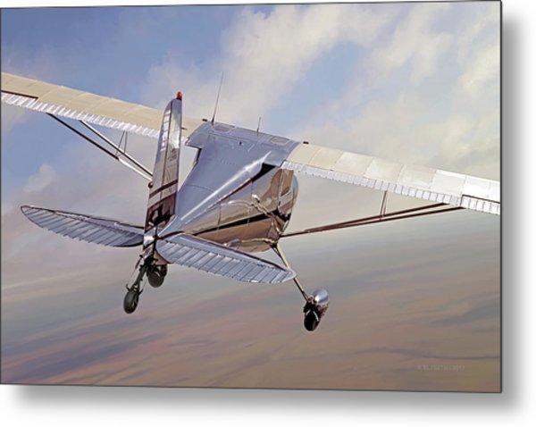 Cessna 140 Metal Print