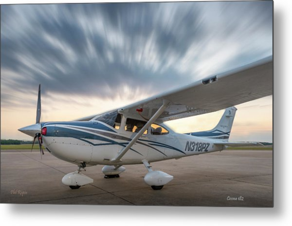 Cessna 182 On The Ramp Metal Print