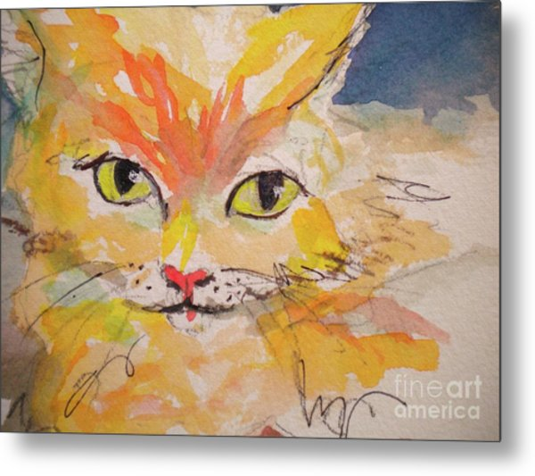 Cfo  Chief Furry Officer Of Jilly Willy Art Metal Print