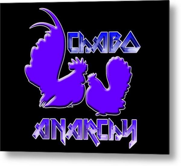 Chabo Anarchy Bluepurple Metal Print
