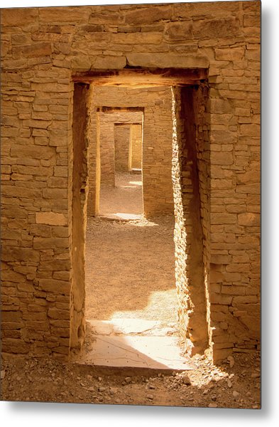 Chaco Ancient Doors   Metal Print
