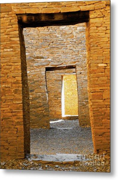 Chaco Canyon Doorways Metal Print