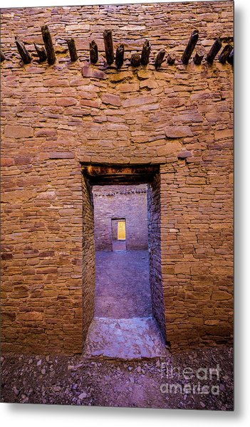 Chaco Canyon - Pueblo Bonito Doorways - New Mexico Metal Print