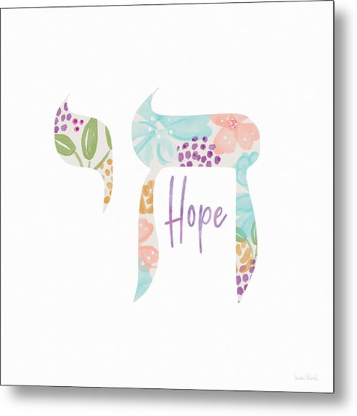 Chai Hope- Art By Linda Woods Metal Print