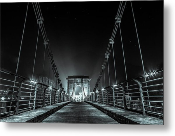Chain Bridge Metal Print