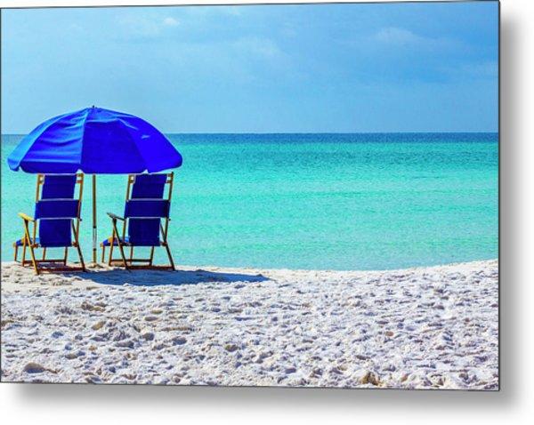Beach Chair Pair Metal Print