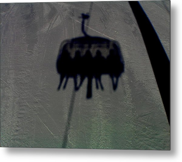 Chairlift Shadow Metal Print